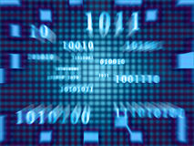 Binary Code (Fast Zoom) Stock Photography
