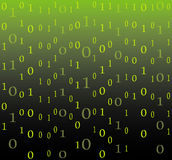 Binary code flow background Stock Image