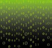 Binary code flow background. Illustration Stock Image