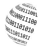 Binary code globe vector symbol icon design. Royalty Free Stock Image