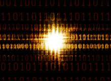 Binary code and the glowing light Stock Photos
