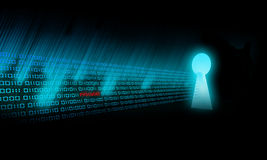 Binary Code glows. And go in the deep Royalty Free Stock Photos