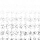 Binary code. Gradient fall off binary code screen listing table cypher, white, vector background Stock Images