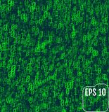 Binary code on green background. Background in a matrix style.  Stock Photo
