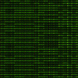 Binary Code. Green binary code on a black background Royalty Free Stock Photography