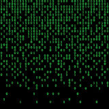 Binary code green and dark background, digits on screen. Royalty Free Stock Photography
