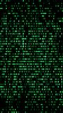 Binary code, green digits on the computer screen. Figures with t. He effect of the VHS screen of the 80's and 90's. Retro vintage screen. Colored semi-shifted royalty free illustration