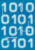 Binary_code_grunge_background. Blue abstract grunge  background with computer binary code . Vector illustration Stock Photography
