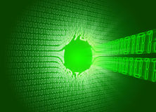 Binary code (hole) Stock Image