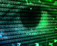 Binary code of the human eye 03.06.13 Royalty Free Stock Images