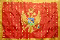 Binary code with Hungary flag, data protection concept Stock Photo
