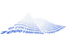 Binary code illustration Royalty Free Stock Image