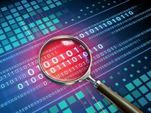 Binary code inspection royalty free illustration