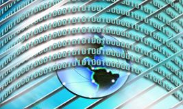 Binary code, internet concept Stock Photography