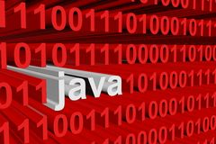 Binary code Java stock illustration