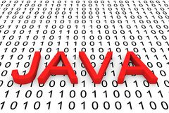 Binary code Java Royalty Free Stock Photo