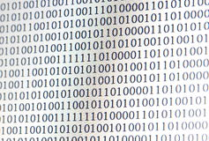 0,1, binary code Stock Photography