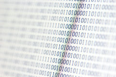 0,1, binary code Stock Photos