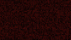 Binary Code Listing stock footage