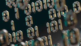 Abstract 3d background,Binary Language and virtual matrix concept.3d illustration royalty free stock image