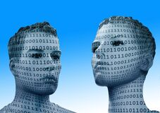Binary, Code, Man, Display Dummy Royalty Free Stock Photography
