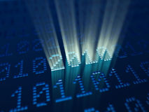Binary code at new 2010 year eve. 3d Stock Images