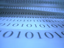 Binary code numerals Stock Images