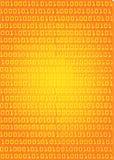 Binary code orange background. Stock Photo