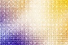 Binary code on orange to purple color Stock Photography