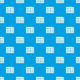 Binary code pattern seamless blue. Binary code pattern repeat seamless in blue color for any design. Vector geometric illustration vector illustration