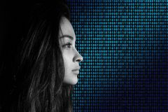 Binary, Code, Privacy Policy, Woman Royalty Free Stock Photo