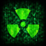 Binary code and radiation icon Stock Image