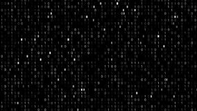 Binary Code Screen. Screen with changing and scrolling binary codes listing black background texture stock footage