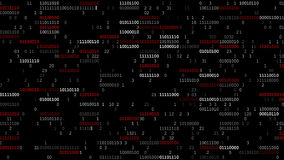 Binary Code Screen stock video footage