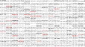 Binary Code Screen stock video footage