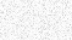 Binary Code Screen. Screen with fast changing binary codes listing white background texture royalty free illustration