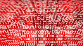 Binary code screen listing table Stock Photo