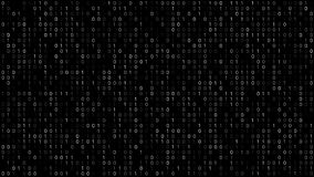 Binary Code Screen. Twinkle binary code screen listing table with cursors and boxes. Black background vector illustration