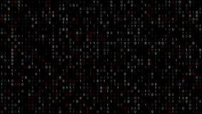 Binary Code Screen stock footage
