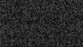 Binary code screen. Twinkle binary code screen scrolled listing table on black background stock video footage