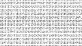 Binary code screen royalty free illustration