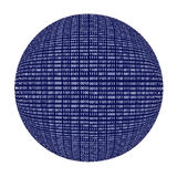 Binary code sphere isolated over white Royalty Free Stock Photos