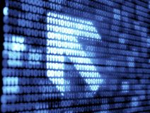 Binary Code Technology Stock Photography
