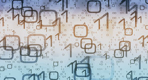 Binary code technology metaphor cyber security Royalty Free Stock Image