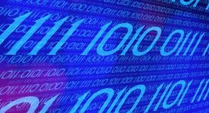 Binary code torrent stream Stock Photo