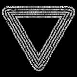 Binary Code Triangle. Decryption Encoding. Binary Code Triangle. Numbers Concept. Algorithm, Data Code, Decryption and Encoding vector illustration