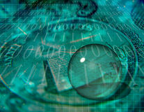 Binary Code and US Currency Stock Photography