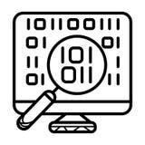 Binary code vector icon stock illustration