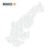 Binary code vector stylized map of Monaco isolated on white background Royalty Free Stock Photos