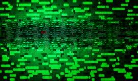 Binary code and virus Stock Photography
